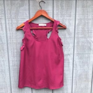 Anthropologie Shirt Womens Size SP Fuchsia Tanktop